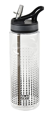 Polar Gear Aqua Curve Tritan Bottle, Black, 750 ml & Active 600ml Tritan Bottle Black Optic Dot, Polyester, 7.2 x 7.2 x 23.5 cm