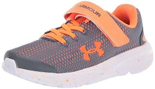 Under Armour Unisex Child Pre School Pursuit 2 Alternative Closure Sneaker, Pitch Gray (100 White, 2.5 Little Kid US
