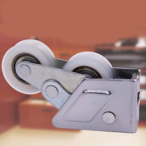 Poulie en acier inoxydable de haute qualité 8 * 2 * 4cm poulie pour armoire en verre porte coulissante rouleau pince en acier roue poulie piste