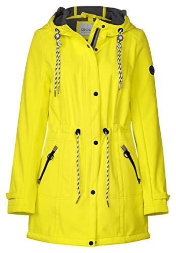 Cecil Damen Sportliche Softshell-Jacke Ultra Yellow L