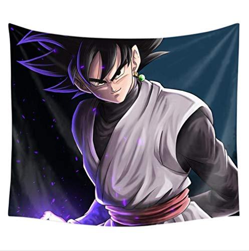 MSHAQT Tapiz De Dragon Ball Z Goku Colcha De Anime para Colgar En La Pared Manta De Picnic Decoración De Pared para Sala De Estar 175 Cm * 230 Cm