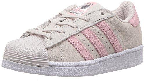 adidas Originals Superstar, Zapatillas para Niñas, Gris Perla Hielo Rosa Hielo Rosa Hielo, 33 EU