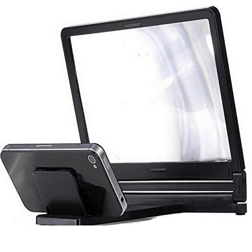NewIncorrupt Regali di San Valentino Amplificazione stereoscopica Supporto per amplificatore con lente d ingrandimento dello schermo del telefono per tablet con supporto per desktop