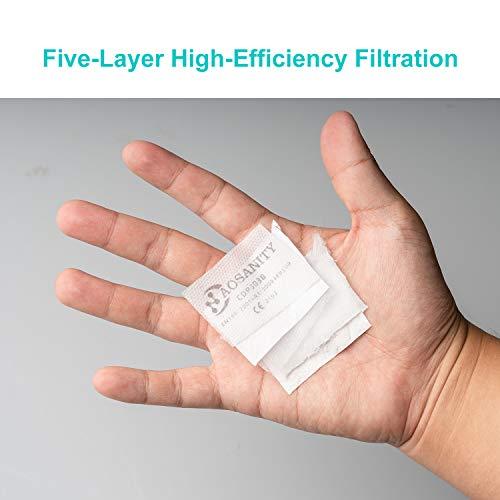 10 X AOSANITY FFP3 Atemschutzmaske – Konforme Maske EN 149:2001+A1:2009, Maske mit mehrschichtigem System, hoher Filtrationskapazität Zusätzlicher Komfort und Sicherheit - 5