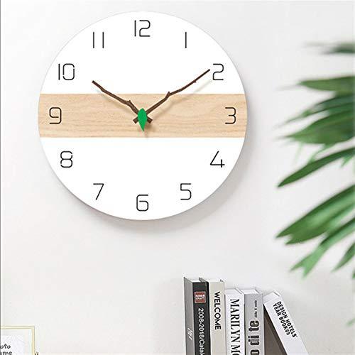 reloj de pared ZXY Restaurante Pared Colgante Dormitorio Dormitorio Creativo Ultra silencioso ins silenciosas cuelga Reloj de pared-10.24