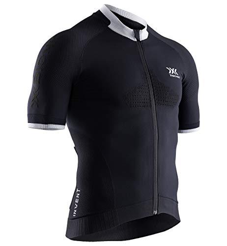 X-Bionic Invent Bike R Zip SS M, Strato Base Camicia Funzionale Uomo, Opal Black/Artic White, S