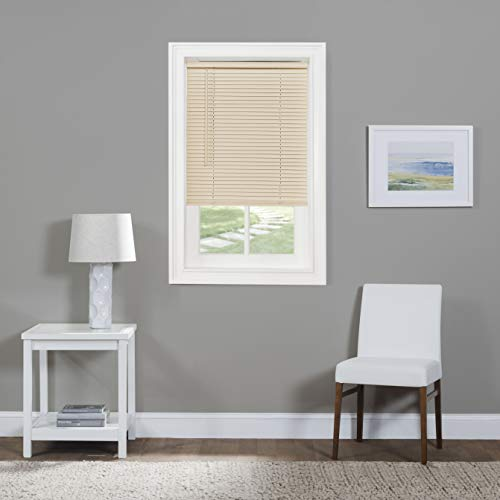 Achim Home Furnishings Cordless GII Morningstar 1' Light Filtering Mini Blind, Length 64inch drop X Width 40inch, Alabaster
