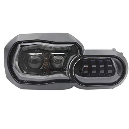 CPOWACE Motocicleta LED faro Hi/lo haz con Ángel ojo DRL reemplazo faro Asamblea para F800GS F800ADV F650GS/F700GS/F800R
