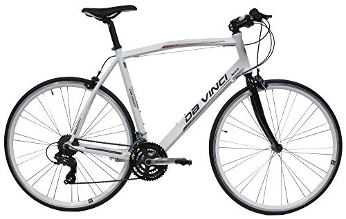 """giordanoshop Bicicletta Ibrida da Uomo 28"""" 21V H52 Denver Fitness Bianca"""