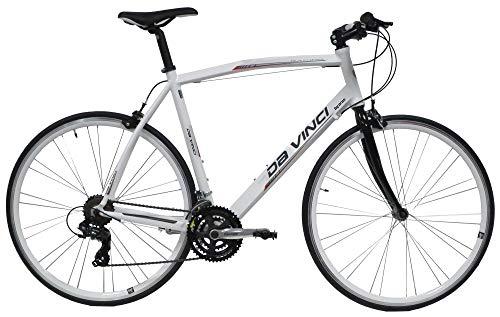 giordanoshop Bicicletta Ibrida da Uomo 28' 21V H55 Denver Fitness Bianca