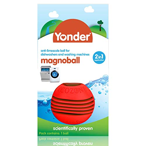 Yonder Anti-Limescale Magnoball for Washing Machine & Dishwashers | Reusable Water Softener, 1 Count