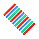 Relaxdays 10 x Leuchtstab mit 3 LED, Schaumstoffstab 6 Effekte, Partystick mit Farbwechsel, rot / grün / blau