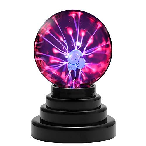 Yuede Plasmakugel mit Weihnachtsmann, Magische Plasma Leucht Ball Elektrostatische Kugel Berührungsempfindliche Blitzkuge Lernspielzeug Plasmalampe