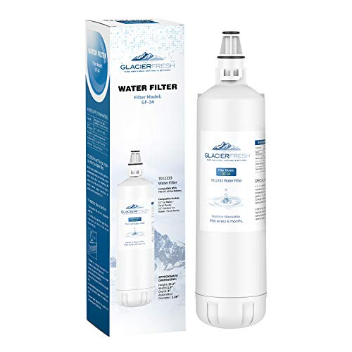 GLACIER FRESH 7012333 Ice Maker Water Filter, Compatible With Sub-Zero 7012333 Water Filter, UC-15 Ice Maker Water Filter Replacement, Manitowoc K00374 (1 Pack)