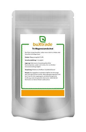 100 g | Tri-Magnesiumdicitrat | Nahrungsergänzungsmittel | Pulver | Magnesium | Buxtrade