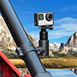 kemimoto UTV ATV Mount for GoPro, 360 Rotaion Metal Action UTV Camera Clamp Holder Compatible with UTV ATV of 1.75'-2' Roll Bar for Gopro Hero 9 8 7 6 5 4, SJ, DJL, Insta360 etc