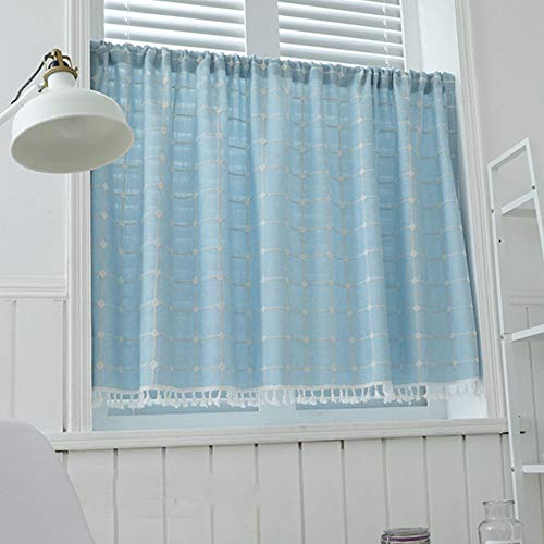Halbvorhang,Waschbecken/Okklusionsvorhang,kaffeevorhang,baumwolle und leinen/gitter/kurzen vorhang,staubdicht/Trennvorhang,tür vorhang,kamin/küche/café/kleinen vorhang/1pcs