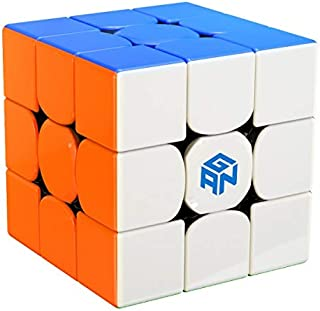 GAN 356 R Speed Cube 3x3x3 Stickerless System Blue Pouch