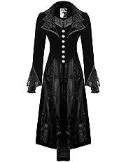 Punk Rave Kurtka płaszcz płaszcz czarny aksamitny gotycki steampunk VTG regencja wiktoriańska