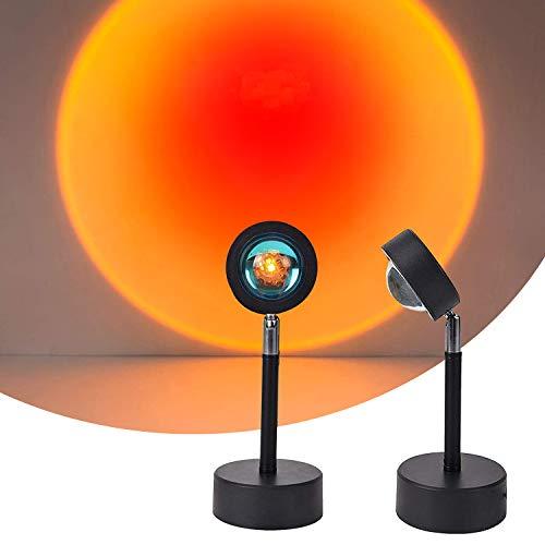 Sunset Lamp, Sunset Projection Lamp,Sunset Lamp,Sunset Sunset Lamp,USB LED Proyector Luz Proyector Luces Proyector Rotación 180° Visual Romántica Ambiente Iluminación Dormitorio Decoración