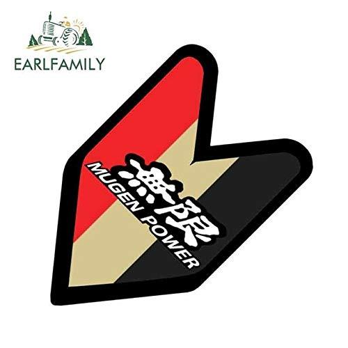 FAFPAY Autoaufkleber Emblem für Honda Mugen, Emblem für Auto, Auto Aufkleber, Nicht Vinyl Aufkleber, 13 cm x 12,7 cm JDM Wakaba Stil Auto wasserdichtStil A.