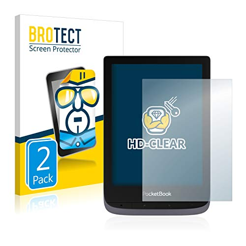 BROTECT 2x Schermbeschermer compatibel met PocketBook Touch HD 3 Screen protector transparant