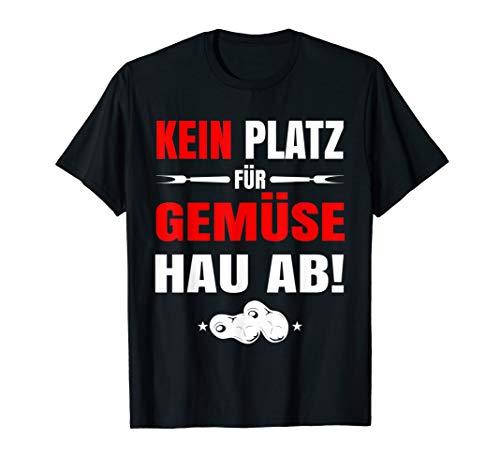 Herren Grillen Grillmeister Grillgeschenk Kein Gemüse BBQ Grill T-Shirt