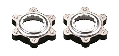 2x Ashima Adapter für Shimano Centerlock auf IS 6 Loch Bremsscheibenaufnahme Centra Lite silber