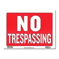 サインプレート Lサイズ 立入禁止【NO TRESPASSING】Sign Plate 看板 ガレージ インテリア アメリカン雑貨