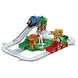 HELP THOMAS AND FRIENDS DELIVER ON TIME - This is an interactive train set in which you get to help Thomas and Friends deliver their loads on time throughout Sodor. INCLUDES TRAIN TRACK & 3 DIFFERENT TRAINS - Enjoy activating a chain of actions in wh...