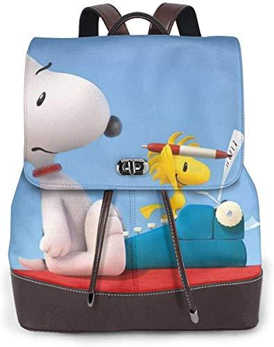 Snoopy スヌーピー 20 リュックサック レディース 高級本革 レザー バック 女子 人気 通学 OL 通勤 旅行 防撥水 軽量 手提げバッグ,ブラック,One Size