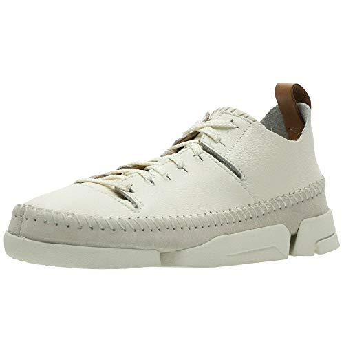 Clarks Originals Trigenic Flex, Damen Sneakers, Weiß (Weiß Nubuck), 42 EU (8 Damen UK)
