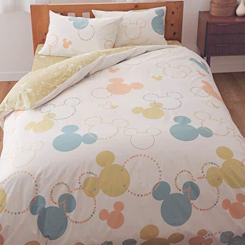 [ベルメゾン]ディズニー布団カバー3点セット綿100%寝具カバーセットミッキーモチーフマルチ洋式ダブル