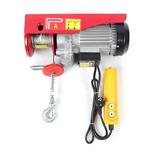 Futchoy Palan Electrique 220V Treuil à Câble Electrique 200 / 600kg Treuil-Palan Electrique Avec Contrôle pour Maison, Atelier, Garage (600kg)