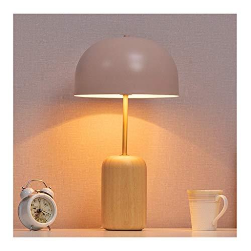 WFL - Lámpara de mesa de mesa - Simple Nordic distancia regulable - Luz de mesa - Hierro forjado de madera maciza * 1 E14, salón decoración infantil dormitorio estudio lámpara de mesa de alta calidad