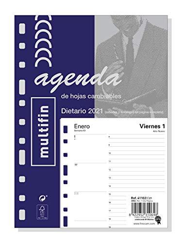 Finocam - Recambio Anual 2021 1 Día página Multifin 3002 Español