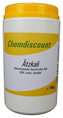 1kg Ätzkali (KOH, Kaliumhydroxid, kaustisches Kali)