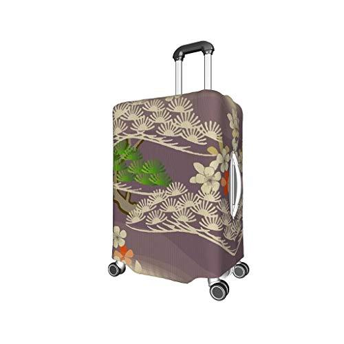 Bekende dennenboom, bloem, Cloud Travel koffer Cover - dennenboom unieke 4 maten voor veel koffer