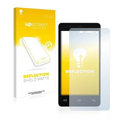 upscreen Entspiegelungs-Schutzfolie kompatibel mit BQ Aquaris E4 – Anti-Reflex Bildschirmschutz-Folie Matt