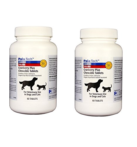 PALA TECH Cranberry Plus 60 Chewable Tablets for Dogs & Cats (Pack of 2)