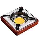 XMJ Posacenere Creativo Garron Cigar Cigar Posacenere retrò Metallo posacenere Puro Rame di Rame Cenere posacenere per Uso Domestico estintore 18x18x4.5cm