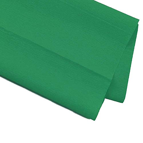 Starplast, Pack de 6 Papel Crepé, Papel Pinocho, Papel Para Manualidades, Decoración, Fiestas, 50 cm x 200 cm, Verde