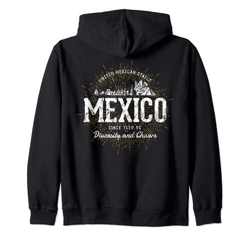 Mexico estilo vintage retro México Sudadera con Capucha