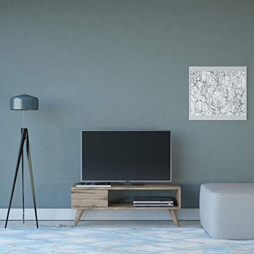 Home factory Mobile TV Maya Noce Moderno. Casa Arredo Design - per Salotto, Soggiorno - Porta, Mensole, Componibile