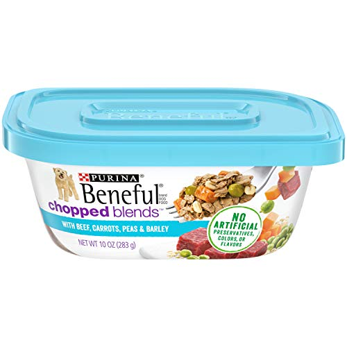 Purina Beneful Wet Dog Food, Chopped Blends With Beef - (8) 10 oz. Tubs