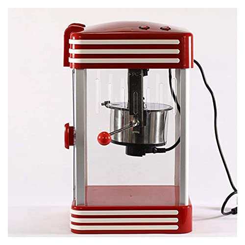 Máquina de palomitas de maíz Popcorn Retro '50s Look, máquinas de palomitas retro profesional de 230 vatios, bocadillos de palomitas de maíz (Size : 27x46x22.5cm)