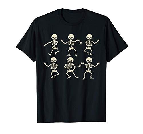 Esqueleto Bailarinas De Halloween Disfraz Mujer Hombre Niña Camiseta