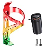 West Biking Bike Water Bottle Holder, Bicycle Water Bottle Cage, with Repair Tool Box, Ultra-Light,...