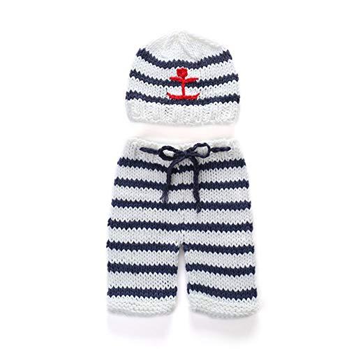 Aru Häkelset Baby Boy Matrosen-Outfit Neugeborene Fotografie-Requisiten Foto Requisiten
