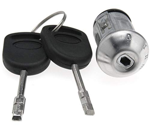 YINETTECH Lenkrad-Reparatur-Zylinder-Schalter, Zündschloss, mit 2 Schlüsseln, kompatibel für Ford Street KA
